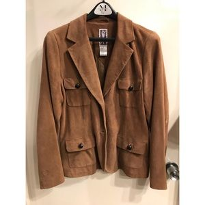 Real Suede Jacket Vintage Sz 12 L